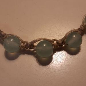 Jade Bead Bracelet Handmade
